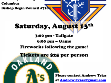 kofc a's game vertical poster